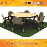 Schulkind-hölzerner Tisch mit dem Edelstahl-Tisch-Bein (IFP-033)
