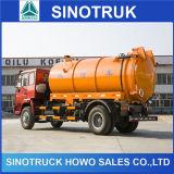 Sino 트럭 HOWO 4X2 226HP 흡입 진공 하수 오물 유조 트럭