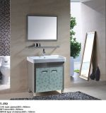 Edelstahl-Badezimmer-Eitelkeits-Schrank mit beleuchtetem Spiegel
