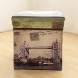 Caixa de armazenamento multifuncional sem tecidos Caixa de armazenamento criativa Folding Stool