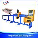 Lang-handelt CNC van de Pijp de Scherpe Machine van de Vlam van het Plasma voor de Buis van de Koolstof/van het Roestvrij staal