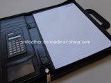 Handle Business Black Leather Fauteuil Folio avec Multi Pocketsn