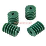 Attrezzo di vite senza fine di plastica resistente dell'abrasione dell'OEM/piccolo attrezzo di dente cilindrico/ingranaggi conici a spirale di nylon