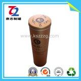 뚜껑 또는 주석 포도주 컵을%s 가진 포도주 컵 모양 초 주석 상자 금속 초 단지 왁스 주석 홀더