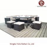 Conjunto de Sofa de Mesa de Rattan de Aço (1104)