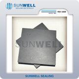 Folha da grafita com engranzamento Suwnell do metal