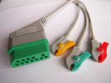 Nihon Kohden 12Контакт 3 диагностического прибора Clip кабель ЭКГ