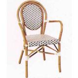 フランスの藤の喫茶店の椅子(BC-08030)