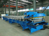 0.3 - 0.8mm Thickness Single Chain Drive Roof Panel Roll Forming Machine