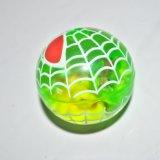 esfera de salto plástica do brinquedo do esporte dos miúdos de 6.5cm com luz