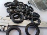 黒いカラーPTFEカーボンオイルシール、テフロンカーボンオイルシールの挿入SS304 Vばね