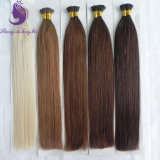 브라운 색깔 나는 Virign 머리 연장을 기울인다
