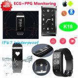 ECG/Blood圧力K18の昇進のギフトの防水スマートなブレスレット