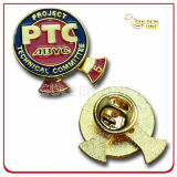Значок Pin металла эмали плакировкой золота промотирования имитационный трудный