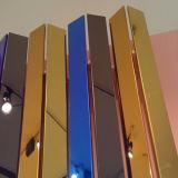 hoja plástica de acrílico de oro y de plata de 1220*1830m m del espejo