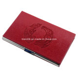 Atacado Metal PU Leather Business Card Holder De China