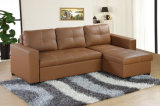 В гостиной отеля мебель кожаный диван-кровать (HC08)