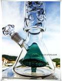 Hb K70 기본적인 비커 Perc 3개 부품을%s 가진 인라인 두 배 콘 모양 유리제 연기가 나는 수관 9개의 얼음 노치