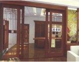Puerta Automática de Hogar de Madera
