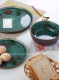 Insieme di pranzo della ciotola di insalata di colore blu 6.5 '