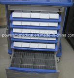 Muebles de hospital ABS lateral doble Medicinas carretilla