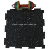 Cossfitのフロアーリングのための15mmの厚さの困惑の形のゴム製マット