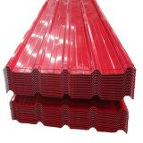 Pintura de color de hoja ondulada galvanizada de materiales de construcción de techos de chapa de acero
