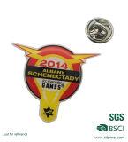 선물 (HST-BS-110)를 위한 Metal Offset Printing Company 로고 접어젖힌 옷깃 Pin
