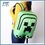Minecraft sac à dos d'enfants Schoolbag toile Sacs à dos vert Zip réducteur gamme rampante