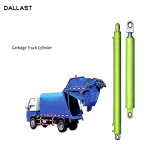 Com vários estágios da placa de push-pull caminhão de lixo saneamento dos cilindros hidráulicos dos veículos