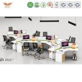 poste de travail modulaire de bureau du modèle moderne 3 Seaters pour le projet de bureau