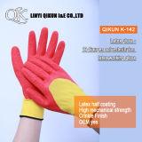 K-162 13 medidores de nylon / poliéster com revestimento de PU Luvas de Segurança do Trabalho