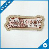Forma especial etiquetas tecidas para o vestuário do miúdo/sapatas/Schoolbag