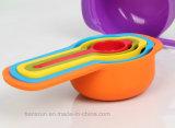 6 Piezas de plástico apilables tazas de medir