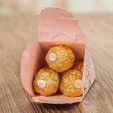 Bonbons de mariage créatif européen de la glace Boîte d'emballage de cône