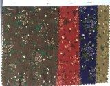 Lazo floral impreso teñido hilado del cuello de la tela del algodón