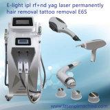 E6 Super eficaz LIP ND YAG Laser 2 em 1 Máquina de remoção de pêlos de Luz
