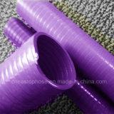 Descarga de PVC de la manguera de agua de superficie lisa y la manguera de succión