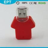 Roupa dada forma L movimentação feita sob encomenda do flash do USB do logotipo do ABS para a amostra livre