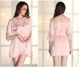 Pijamas de seda atractivos de la ropa de noche de las mujeres al por mayor de la camisa de dormir