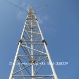 Torres de acero certificadas ISO9001 de la telecomunicación del tubo para el teléfono móvil de la fábrica