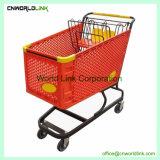 Carrinho de Supermercado de metal prático carrinho de compras