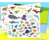 장면 여러가지 민감한 디자인된 재사용할 수 있는 스티커 책