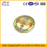Aleación de zinc de alta calidad personalizada de la moneda de metal