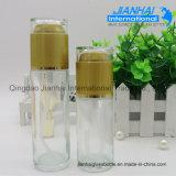 Kundenspezifischer Glasduftstoff-transparente Flasche mit Metallschutzkappe