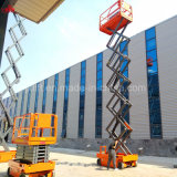 10m de altura de elevación 300kg de China la máxima calidad CE aprobó la tijera elevador hidráulico de la plataforma con la tabla de precios bajos