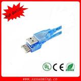 Transparent Blue 2.0 USB Câble USB mâle à femelle