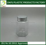 محبوب [100مل] بلاستيكيّة سداسيّة كهرمانيّة يخلو زجاجة