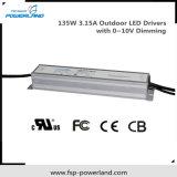 Outdoor étanche modulable par LED à courant constant d'alimentation 135W 3,15 A