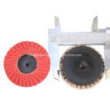 강철을%s T27 유형 R 50mm 거친 모래로 덮는 닦는 가는 소형 플랩 디스크